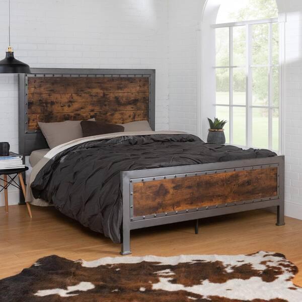 Walker Edison Furniture Company Queen, Wood Metal Bedroom Furniture