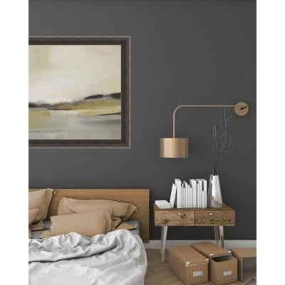 35.75 in. x 35.75 in. 'Morning Beach' by Alison Jerry Textured Paper Print Framed Wall Art