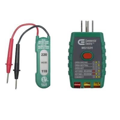 110-220V AC/DC Voltage Tester with GFCI Outlet Tester