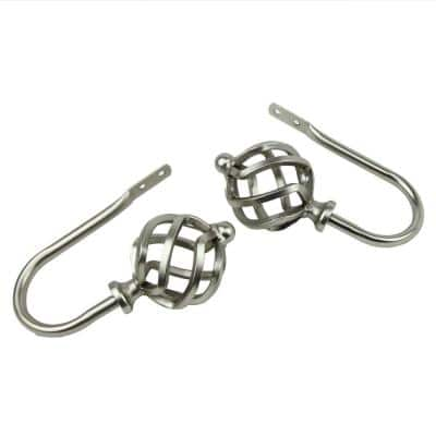 Twist Decorative Holdback Pair in Satin Nickel