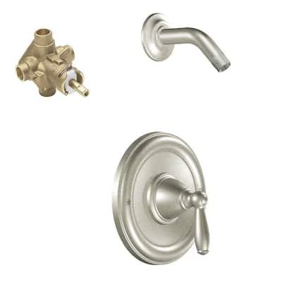 Brantford Single-Handle 1-Spray Posi-Temp Shower Faucet in Brushed Nickel (Valve Included)