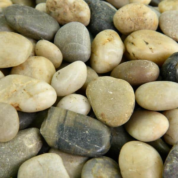 Southwest Boulder Stone 0 06 Cu Ft 3 8 In 5 8 In 5 Lbs Small Mixed Polished Rock Pebbles For Planters Gardens Aquariums And More 02 0034 The Home Depot