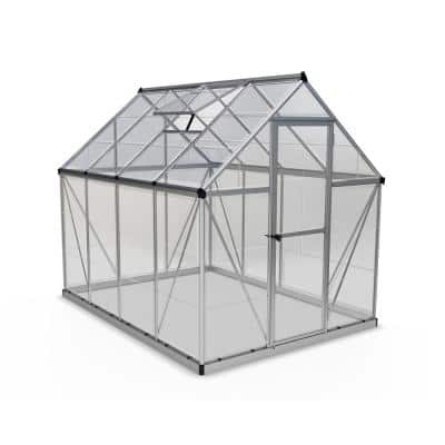 Harmony 6 ft. x 8 ft. Polycarbonate Greenhouse in Silver
