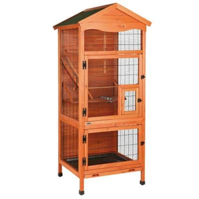 30.5 in. L x 30.5 in. W x 70.75 in. H Aviary Large Wooden Bird House