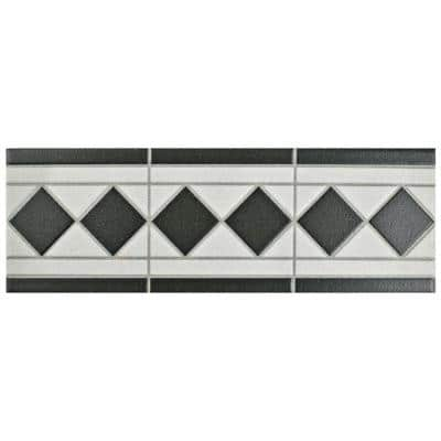 Vanity Blanco 4-1/4 in. x 13 in. Porcelain Listello Floor and Wall Trim Tile