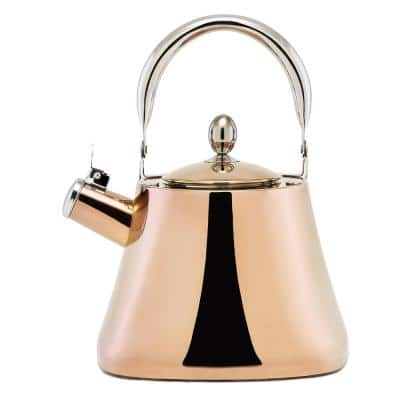 DuraCopper 10.57-Cup Stovetop Tea Kettle in Copper