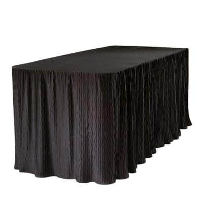6 ft. Black Table Cloth Made for Folding Tables