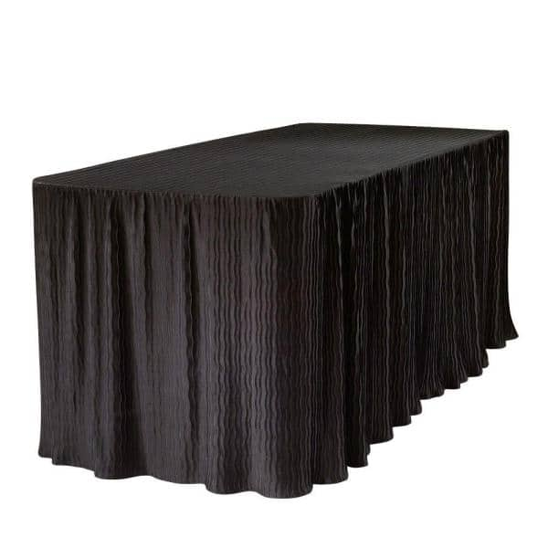 The Folding Table Cloth 6 Ft Black, What Size Tablecloth For A 38 X 72 Table