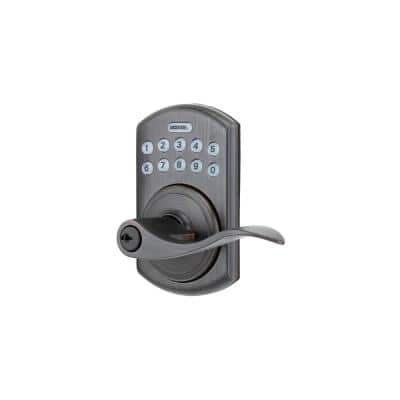 550 Zinc Tuscany Bronze Electronic Lever Entry Door Lever No Deadbolt With