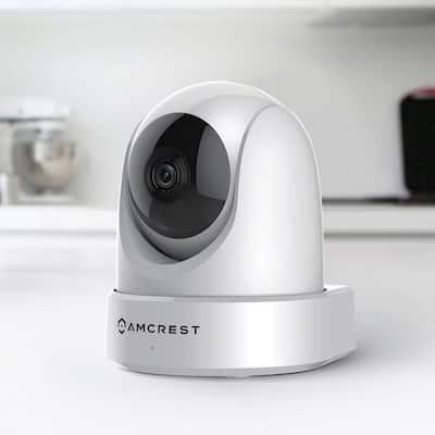 UltraHD 4MP Wireless Indoor Wi-Fi IP Surveillance Camera with Remote Pan/Tilt/Zoom, 2-Way Audio,Wide 120° FOV