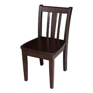Rich Mocha San Remo Juvenile Chair (set of 2)
