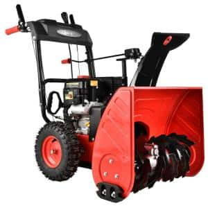 24 in. 2-Stage Electric Start Gas Snow Blower with LED Light