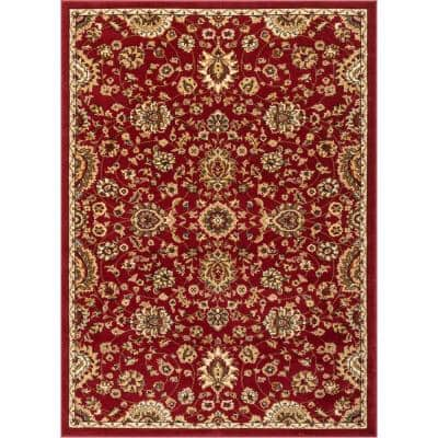 Barclay Bahia Traditional Oriental Red 3 ft. 11 in. x 5 ft. 3 in. Area Rug