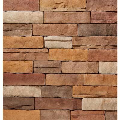 "ClipStone Sand Ledgestone Flats 4""x""6 to 17"" Siding - 5 SF"
