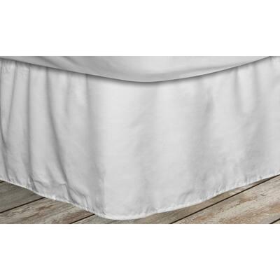 Frita 15 in. White Striped Full Bed Skirt