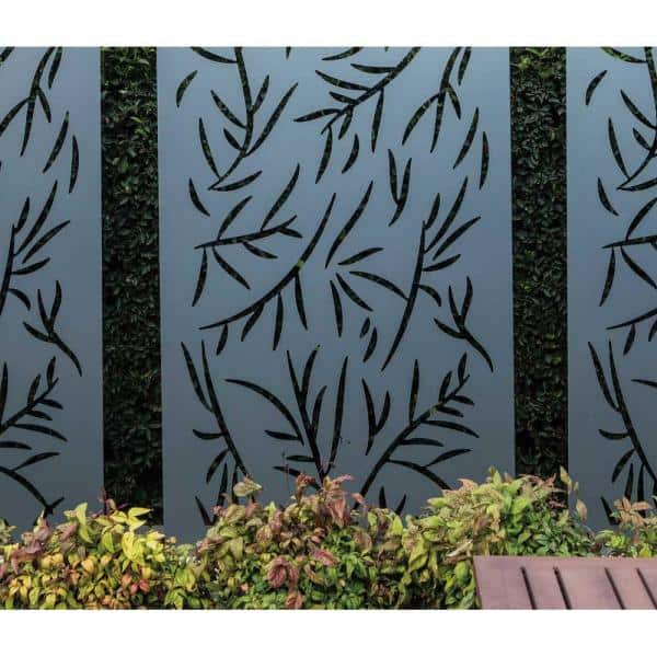 Stratco Privacy Screen Wall Art Panel 4 X 2 Jungle Design With Rustic Lg 17682 The Home Depot