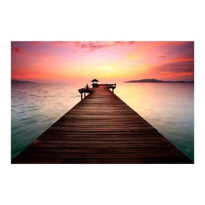 """47 in. x 32 in. """"Wanderlust"""" Tempered Glass Wall Art"""