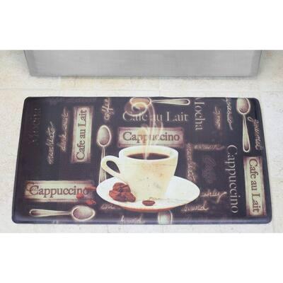 Café Au Lait 20 in. x 32 in. Anti-Fatigue Gelness Kitchen Mat