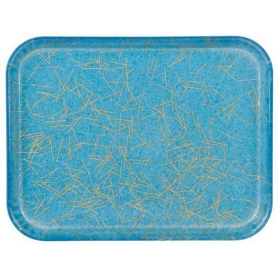 Glasteel 13.75 in. x 0.75 x 10.6 in. Starfire Blue Fiberglass Decorative Tray (12-Pack)