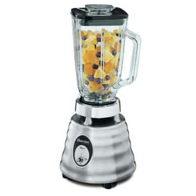 Heritage Classic Series 40 oz. 2-Speed Stainless Steel Blender with 5-Cup Glass Jar