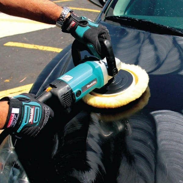 Makita 10 Amp 7 In Corded Variable Speed Hook And Loop Sander Polisher W Soft Start Backing Pad Side Handle And Loop Handle 9227c The Home Depot