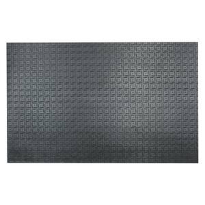 Shark Tooth II 1/2 in. T x 3 ft. W x 4 ft. L Black Heavy Duty Rubber Flooring Mat