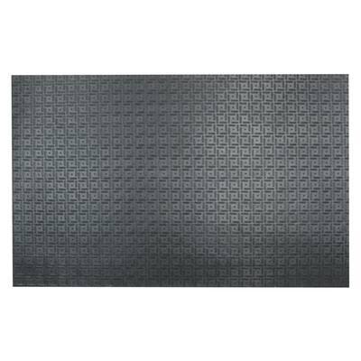 Shark Tooth II 1/2 in. T x 4 ft. W x 6 ft. L Black Heavy Duty Rubber Flooring Mat