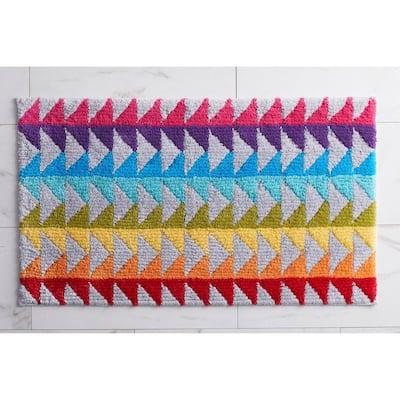 Triangles Corron Geometric Cotton Bath Rug