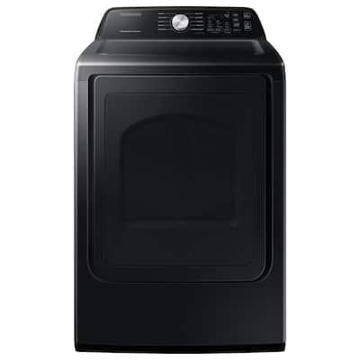 7.4 cu. ft. 120-Volt Brushed Black Gas Dryer with Sanitize