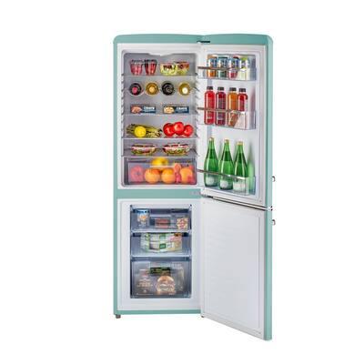 Retro 21.6 in. 7 cu. ft. Bottom Freezer Refrigerator in Ocean Mist Turquoise, ENERGY STAR