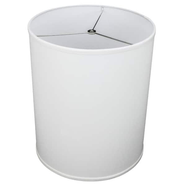 Height Linen White Drum Lamp Shade 14, White Drum Lamp Shade