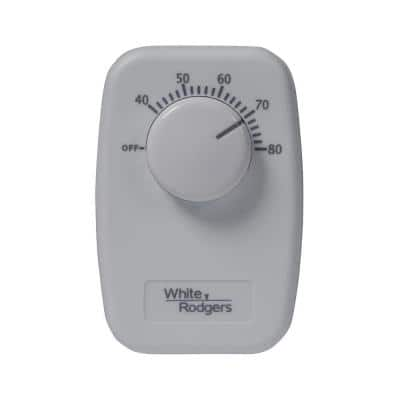 B50 Baseboard Non-Programmable Thermostat - Dual Pole