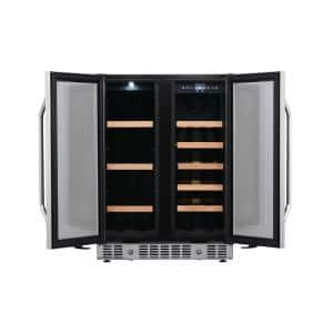 24 in. Built-In Wine and Beverage Cooler with French Doors