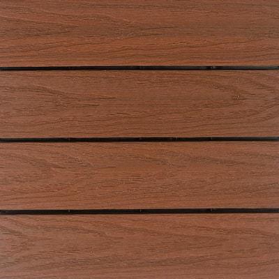 UltraShield Naturale 1 ft. x 1 ft. Quick Deck Outdoor Composite Deck Tile in Honduran Mahogany (10 sq. ft. Per Box)