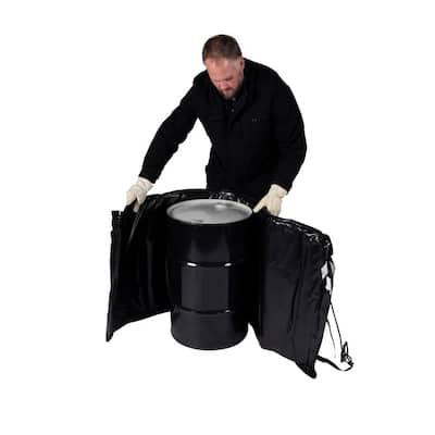 Insulated 15-Gal. PRO Model Drum Heating Blanket - Barrel Heater, Adjustable Controller, Max Temp 145°F