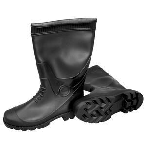 Size 10 PVC Black Boots