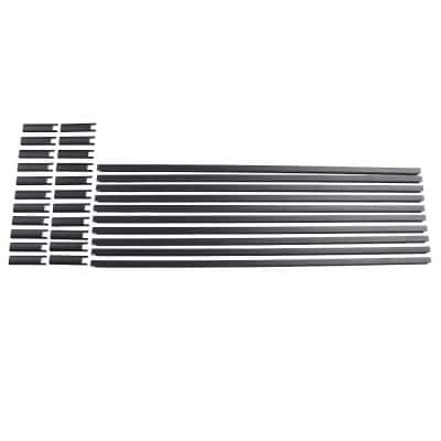 Vista 4 ft. x 36 in. Textured Black Aluminum Level Picket and Spacer Set