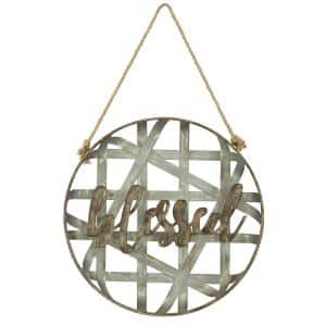 Blessed Metal Rustic Wall Decor