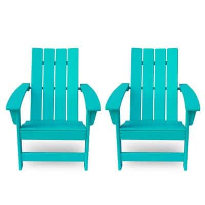 Encino Teal Wood Adirondack Chair (2-Pack)