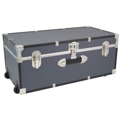 Seward Rover 30 in. Gray Trunk with Wheels and Lock, 12.25 in H x 15.75 in D, Engineered Wood