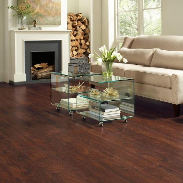 Trafficmaster Dark Brown Hickory 7 Mm T, Maraba Hickory Laminate Flooring