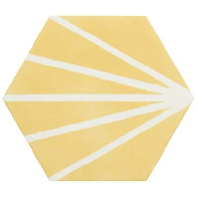 Eclipse Ray Yellow 7.79 in. x 8.98 in. Matte Porcelain Floor and Wall Tile (6.03 sq. ft. / Case)