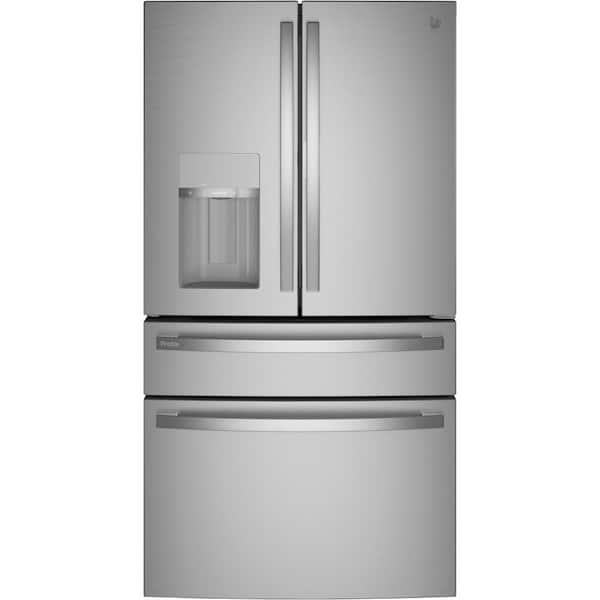 Shop GE Profile 27.9 cu. ft. Smart 4-Door French Door Refrigerator with Door in Door in Fingerprint Re... from Home Depot on Openhaus