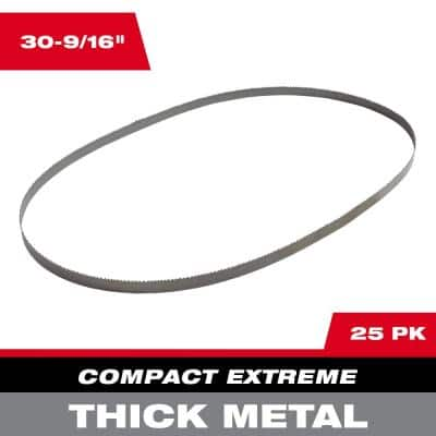 30-9/16 in. 8/10 TPI Compact Extreme Thick Metal Cutting Band Saw Blade (25-Pack) For M12 FUEL Bandsaw