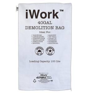 40 Gal. Contractor Trash Demolition Bags (100-Count)
