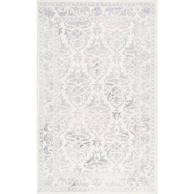 Krause Faded Floral Gray 9 ft. x 12 ft. Area Rug