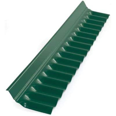 4 ft. Rain Forest Green Plastic Roof Panel Wall Connector