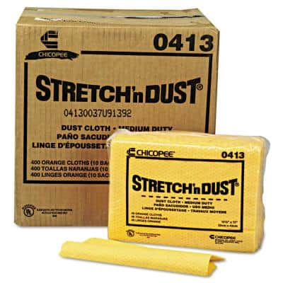 12.6 in. x 17 in., Yellow Stretch 'n Dust Cloths, 400/Count