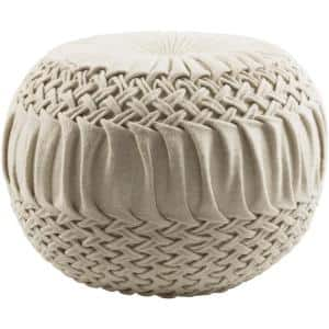 Rilmos Cream Accent Pouf