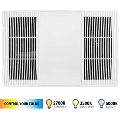 100/110 CFM Size Heater Exhaust Cover Upgrade with Dimmable LED and Color Adjustable CCT Lighting
